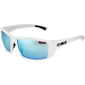 Bliz Drift Brille matte white/smoke/blue multi
